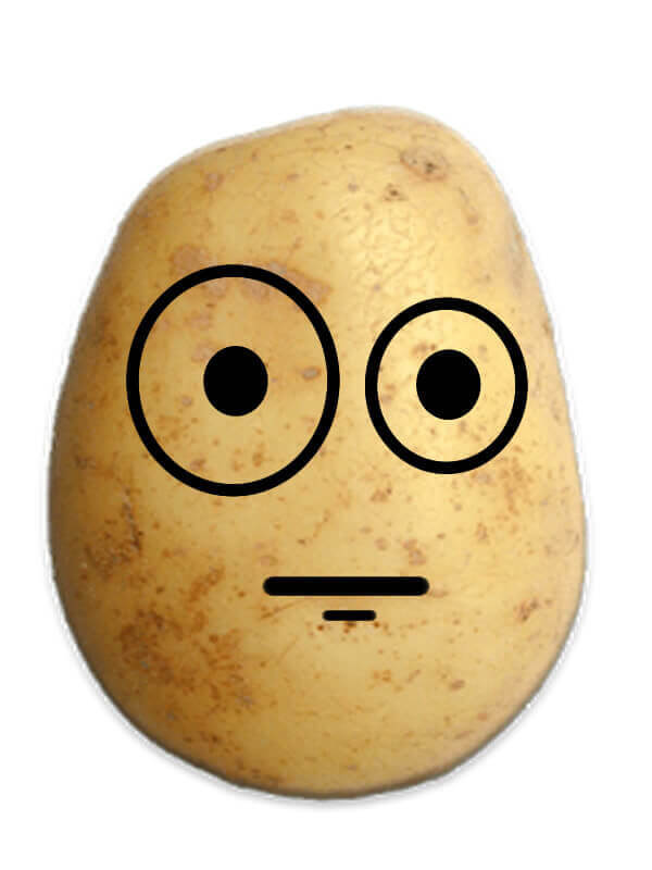 Confused Potato Prank Emoji
