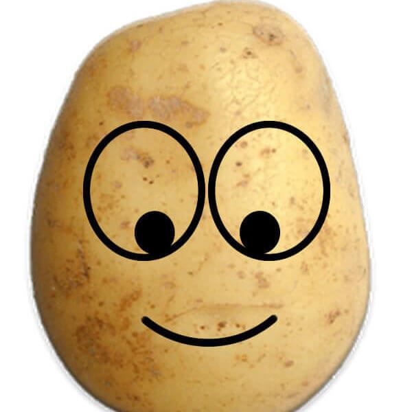 Happy Smiley Potato Prank Emoji