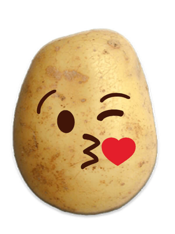 Kissing Potato Prank Emoji