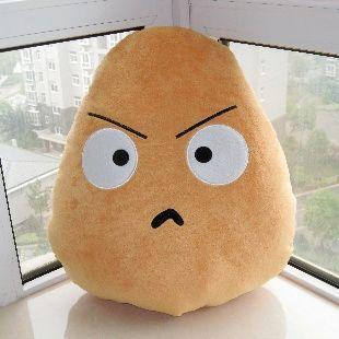 super cute angry potato plush soft toy