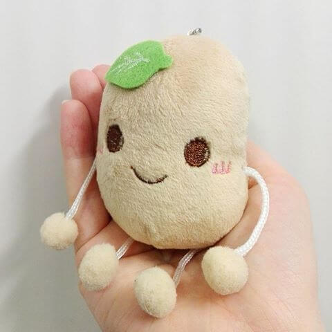 super cute smiling potato plush toy