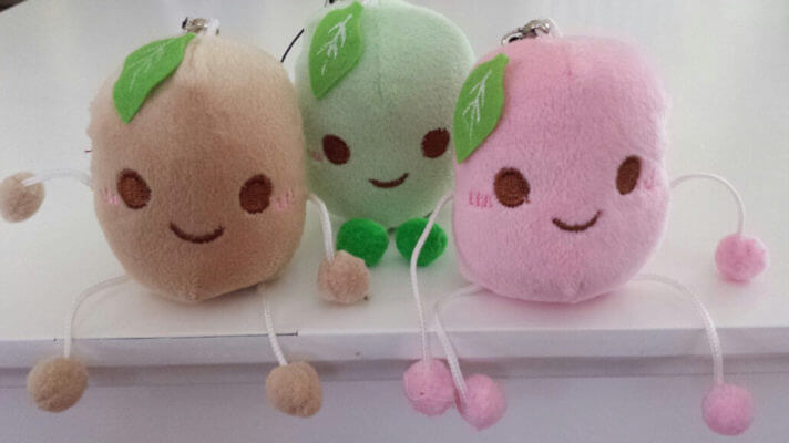 super cute colorful smiling potato plush toy