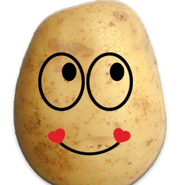 Potato Heart Smile Emoji