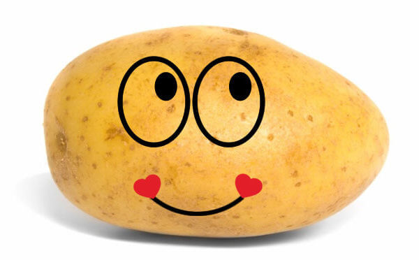 Potato Heart Smile